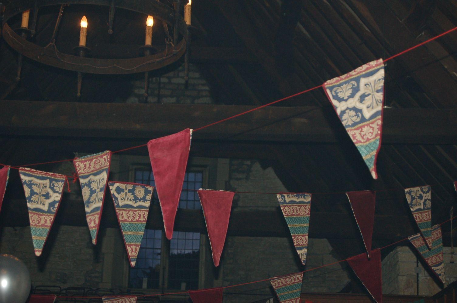 Medieval Banquet Hire Burgundy Medieval Velvet Bunting 163 30